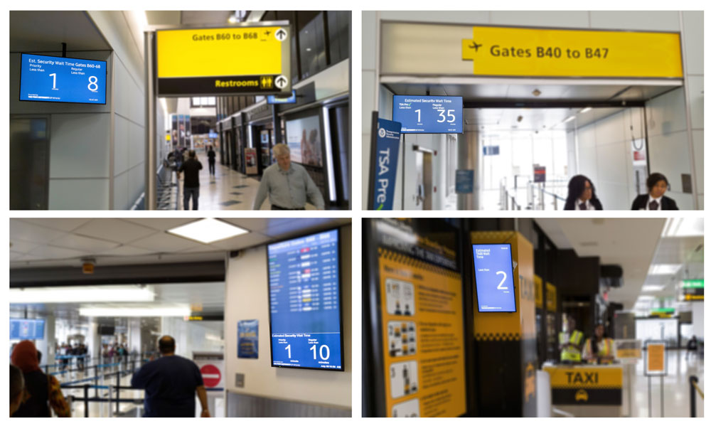 Wait Time Signs at PANYNJ Airports Veovo